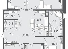 - фото. Купить четырехкомнатную квартиру без посредников, Санкт-Петербург, Барочная улица, 4АБ - фото.